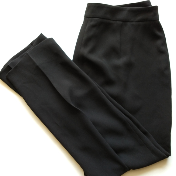 MaxMara Pants - Max Mara 14 Black Slim Leg Italy Dress Pants
